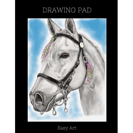 - Drawing Pad: White Horse Sketchbook, 100 Blank Pages, Extra Large (8.5 X 11) White Paper, Sketch, Draw and Paint