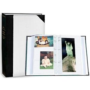 Le Memo Album - Pioneer Photo Albums JBT46-WHA Ledger LE Memo Album 4X6 3-UP 300 Photo White Alt