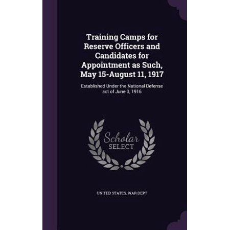 Training Camps For Reserve Officers And