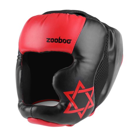 MMA Headgear - UFC Muay Thai Kickboxing Martial Arts Sparring Taekwondo Karate Fighting Competition Boxing Wrestling Maya Hide Leather Helmet Protection Supplies Equipment for Kids Children Youth ()