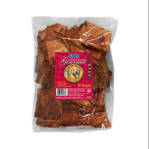 IMS TRADING CORP Gourmet Dog Treats, Rawhide Chips, Beef, 1-Lb.