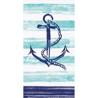 """Club Pack of 192 Denim Blue and White 3-Ply Smooth Sailing Guest Towels 15.5"""""""