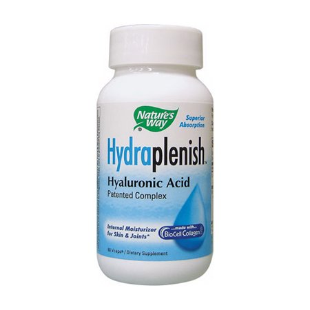 Natures Way Hydraplenish Hyaluronic Acid Patented Complex Capsules - 60 Ea