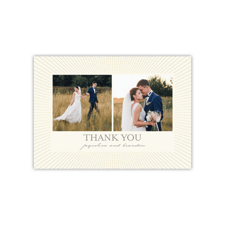Personalized Wedding Deluxe 5 x 7 Thank You - Radiant Glam ()