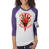 The Walking Dead Fight the Dead Hand Womens Raglan Shirt Top