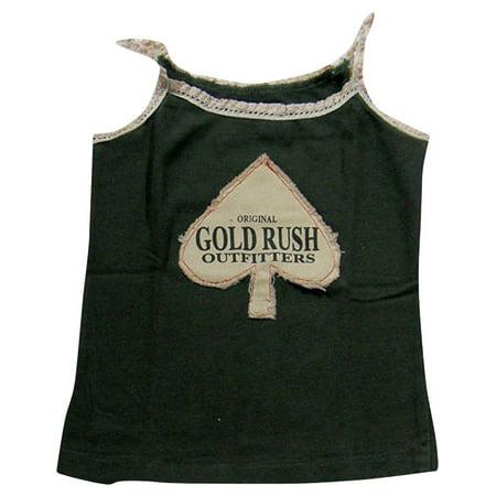 Gold Rush Outfitters - Big Girls Tank Top Distressed Black Spades / - Big Time Rush Halloween Big Night