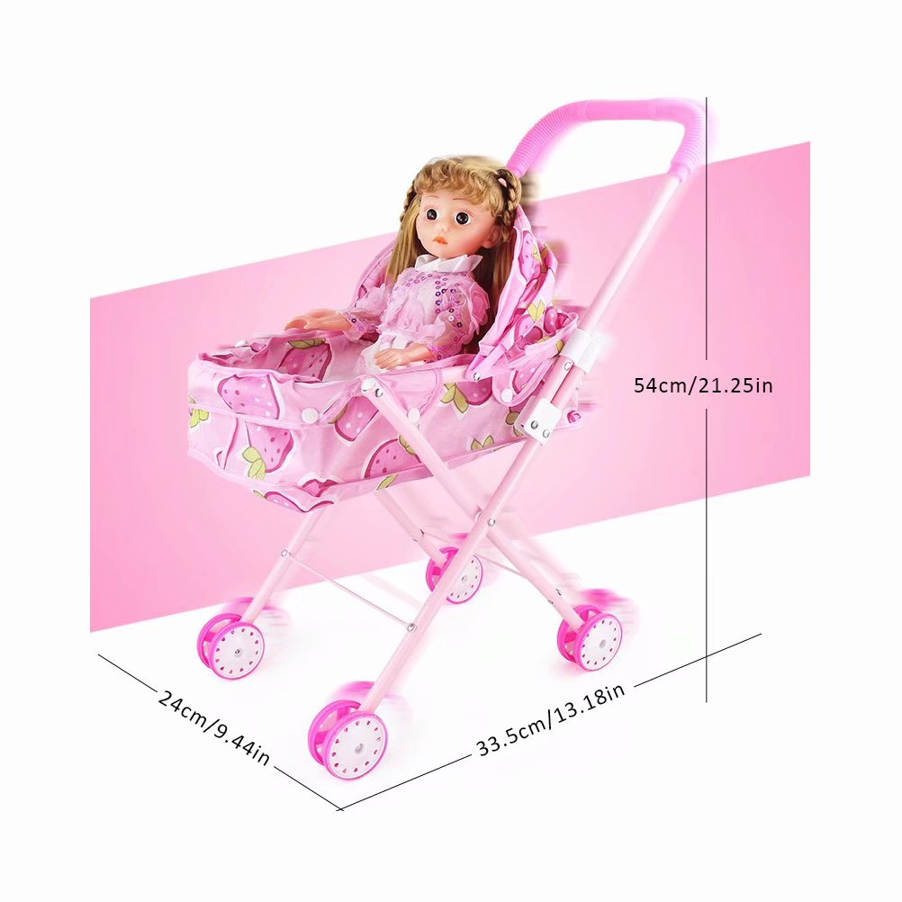 Baby Stroller Precise Doll Stroller Doll Trolley Toy Simulated Stroller For Indoor Outdoor Use