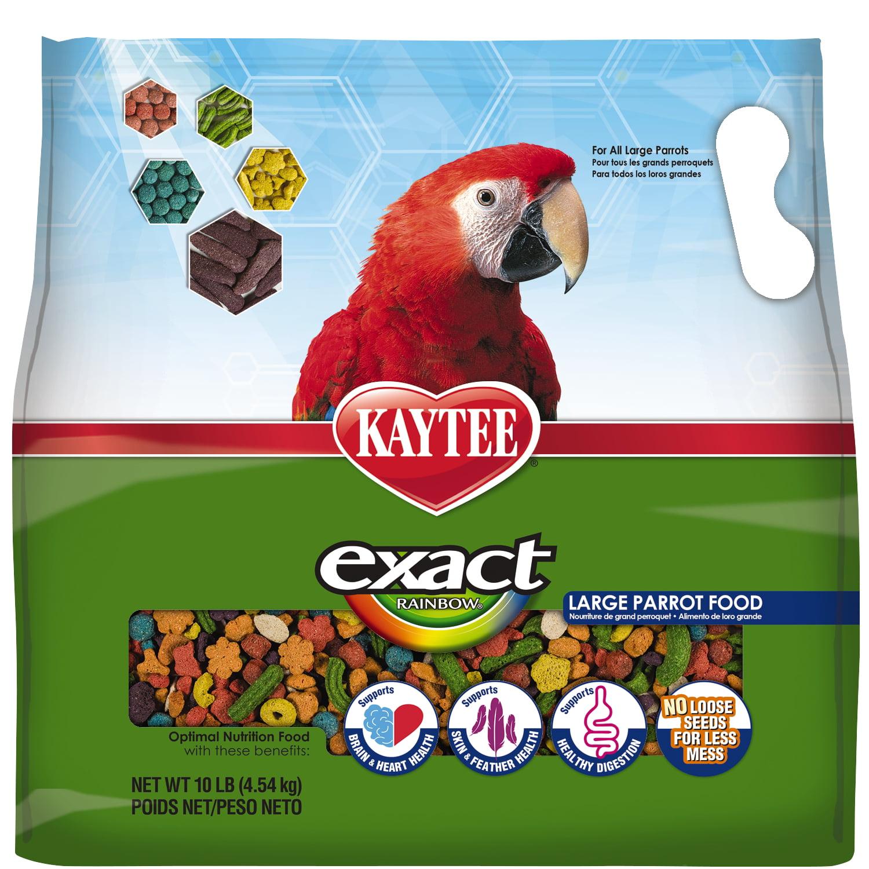 Kaytee Exact Rainbow Large Parrot Food, 10Ib by Kaytee