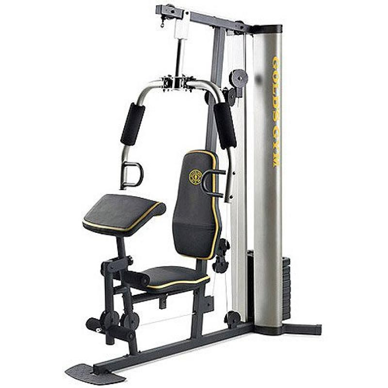 XR 55 Home Exercise Gold's Gym, weight stack, padded seat...