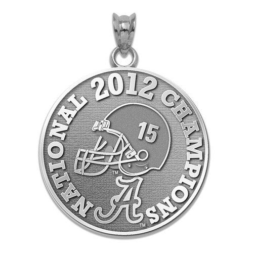 NCAA - Alabama Crimson Tide 2012 BCS National Champions Sterling Silver Charm