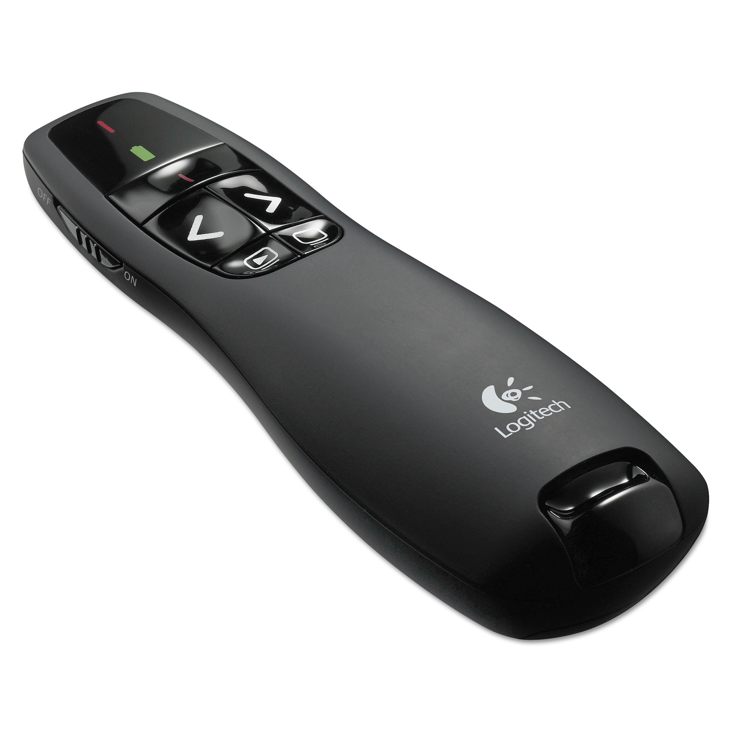 Logitech Wireless Presenter w/Laser Pointer, 50ft Projection, Matte Black