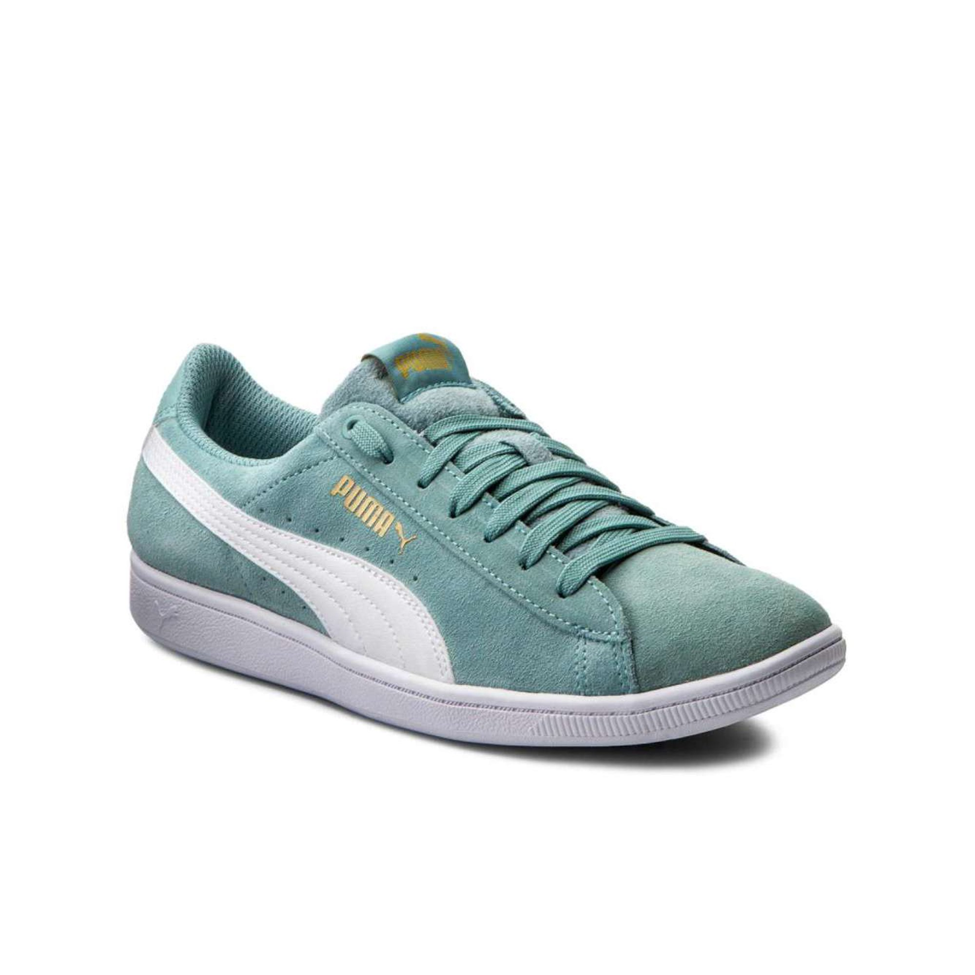 Utgivningsdatum bästa valet kolla upp Puma Womens Vikky Suede Low Top Lace Up Fashion Sneakers ...