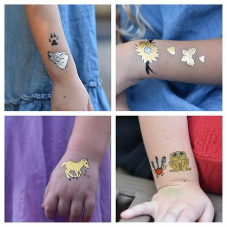 22 pages de tatouages temporaires