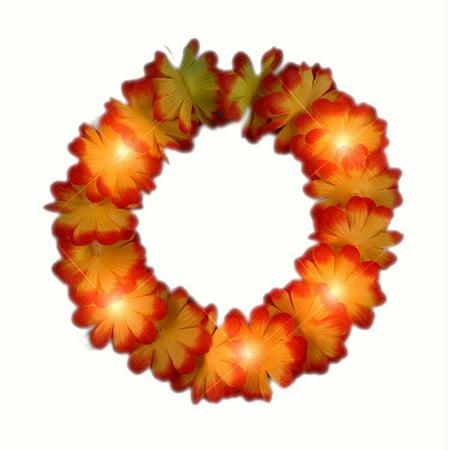 Light Up Flashing Fall Autumn Flower Crown Headband - Light Up Flower Crown
