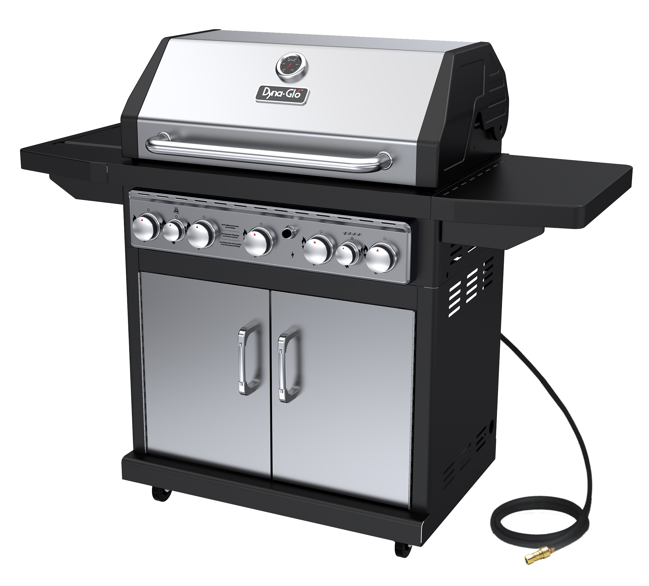 Dyna-Glo DGA550SSN-D 5 Burner Stainless Natural Gas Grill