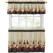 Mainstays Vineyard 3 Piece Kitchen Curtain Set