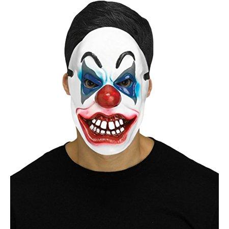Halloween Clowns Masks (Clown Mask Smiling White Teeth Adult Halloween Costume)