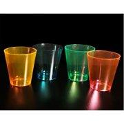 Neon Plastic Shot Glasses (60 pc)