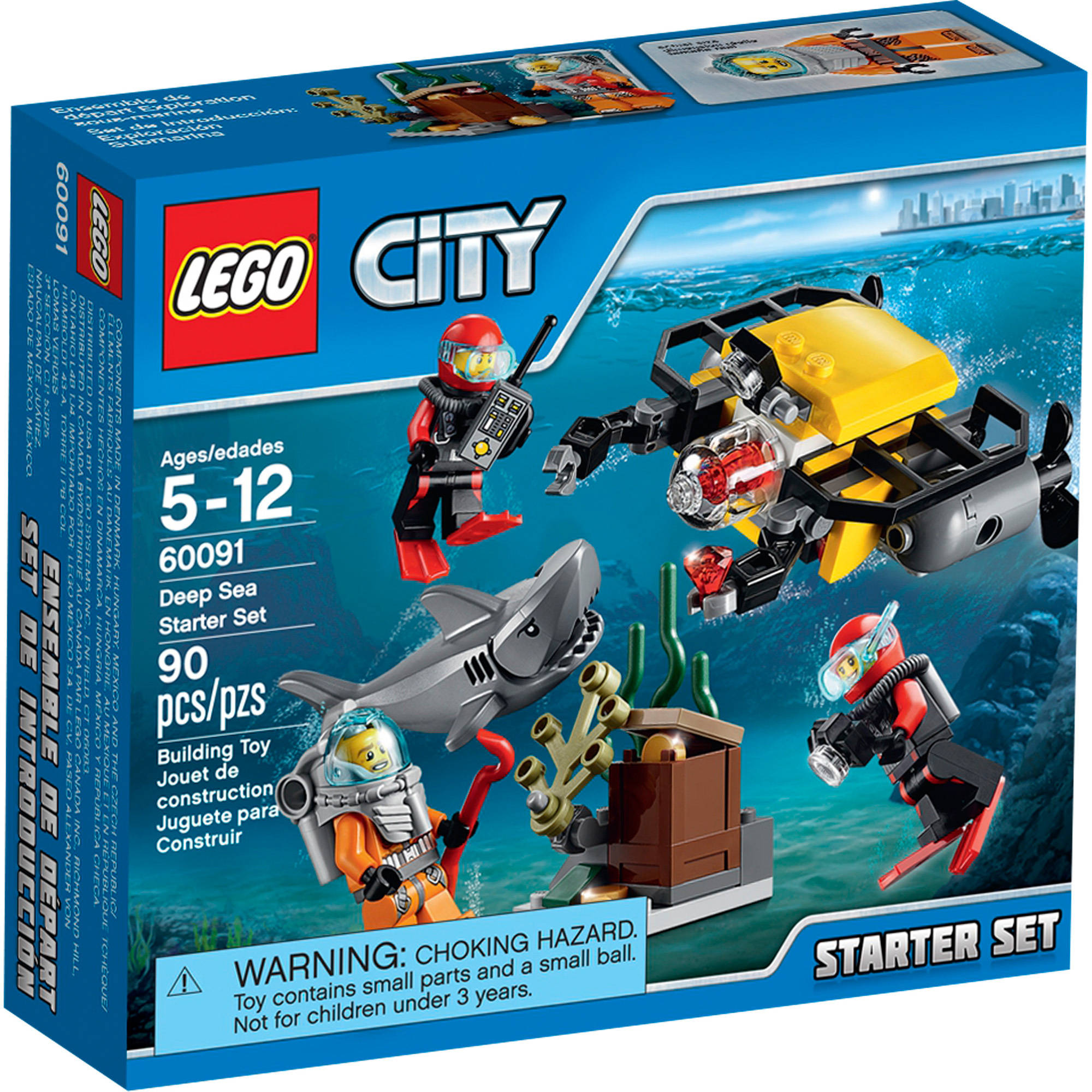 LEGO City Deep Sea Explorers Deep Sea Starter Set, 60091