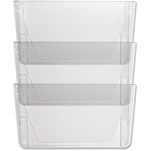 Sparco Stak-A-File Vertical Filing Systems, Clear, 3-Pack