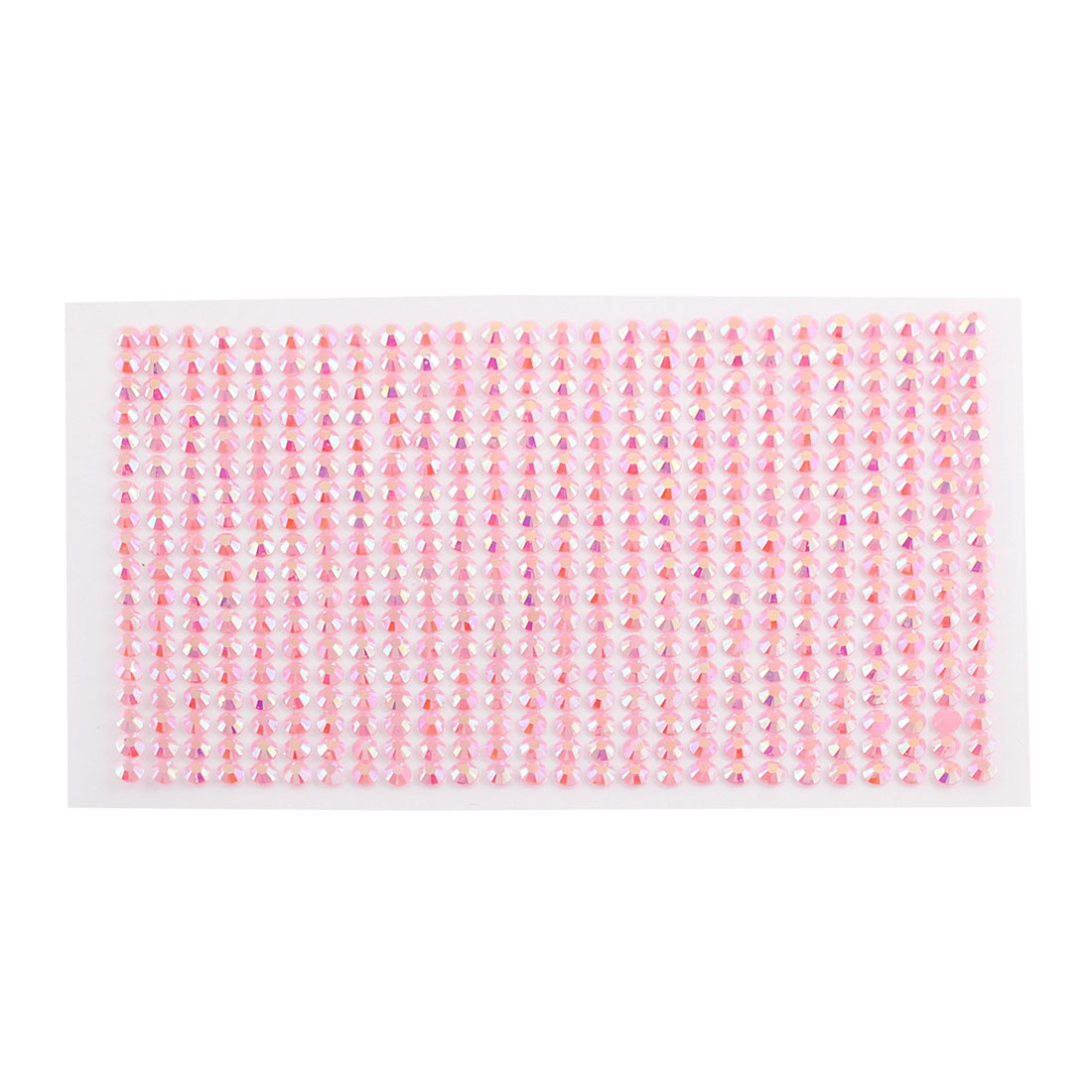 5mm Round Self Adhesive Sparkly Crystal Rhinestone DIY Stickers Pink