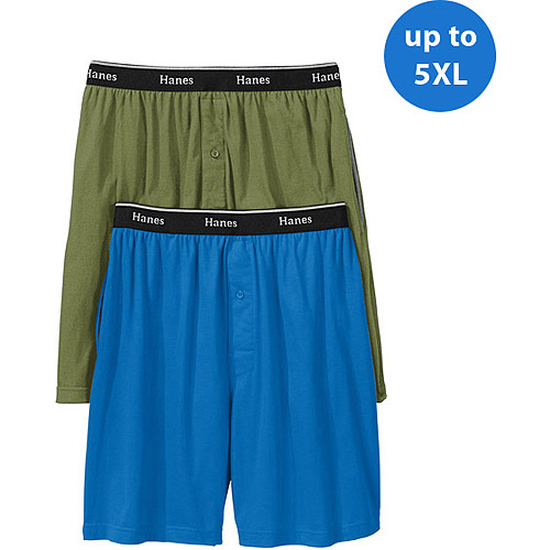 Hanes Big Men's Knit Shorts, 2-Pack