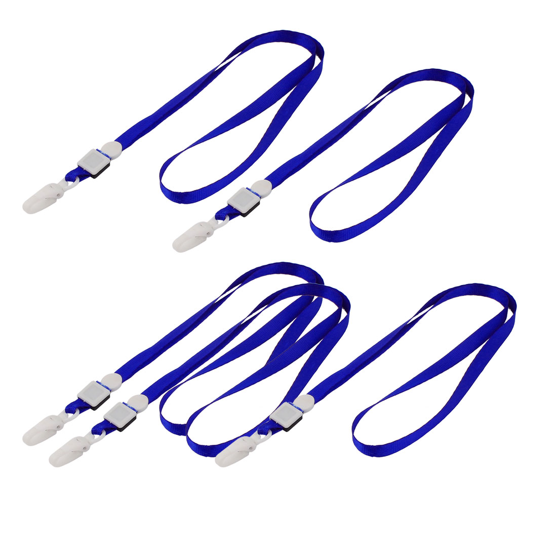 Unique Bargains 5 Pcs Plastic Neck Strap ID Card Badge Holder Lanyard School Office Bank Students Stationery Blue