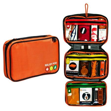 Relief Pod Traveler Pro Plus Safety Kit w/ 62 Items - Orange