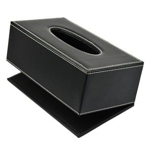 PU Leather Tissue Cover Box Case Holder