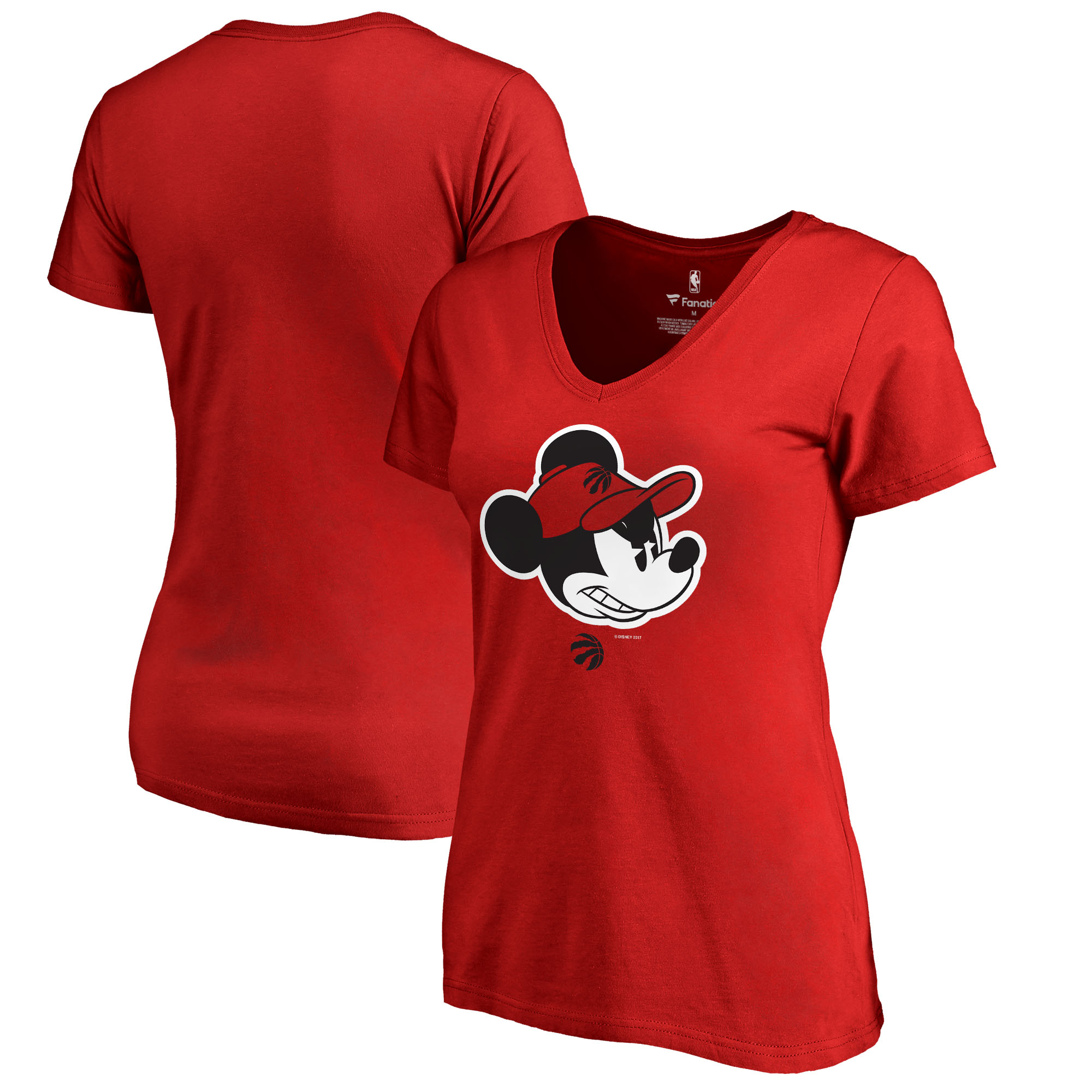 Toronto Raptors Fanatics Branded Women's Disney Game Face V-Neck T-Shirt - Red