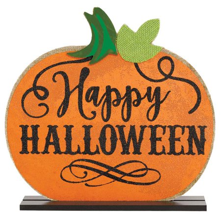 Happy Halloween Standing Base Sign Holiday House Decoration - Halloween Sign Offs