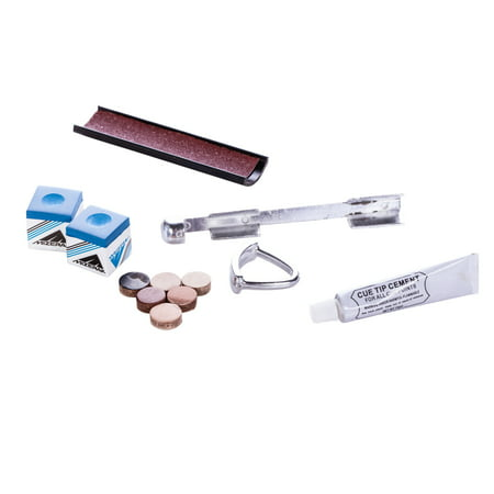 Mizerak Complete Billiards Pool Cue Repair Kit to Maintain and Shape Cue Tip