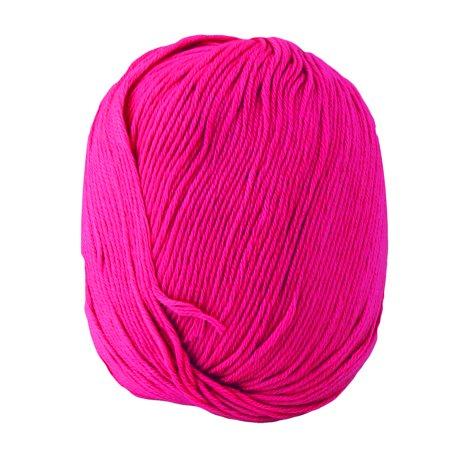 Fuchsia Crochet - Indoor Women Hat Scarf DIY Handicraft Crochet Knitting Weaving Yarn Fuchsia 50g