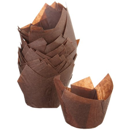 Golda S Kitchen Tulip Baking Cups Brown 24 Pack