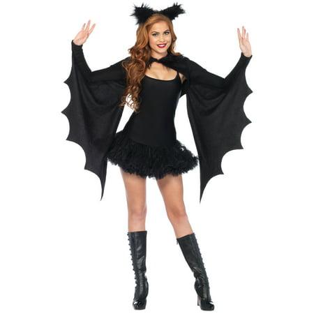 Leg Avenue Cozy Bat Wing Shrug and Matching Furry Ear Headband