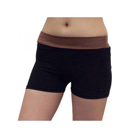 Tug Riding Pant (MarinaVida Women Middle Waist High Elastic Stitching Sports Yoga Shorts Tight Riding Pants )