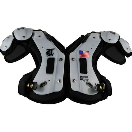 Douglas Adult 24SW Flat Skill Position Shoulder Pads Black (Douglas Back Pad)
