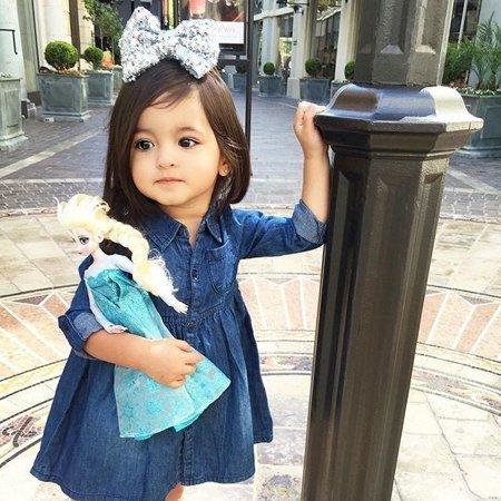 Toddler Kids Baby Girls Denim Jeans One Picece Princess Dress Long Sleeve Skirt - image 2 of 5
