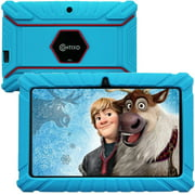 """Contixo 7"""" Kids Tablet 16GB WiFi Android Tablet For Kids Bluetooth Parental Control Pre-Installed Learning Tablet Apps for Toddlers Children Kid-Proof Protective Case, V8-2 Blue"""