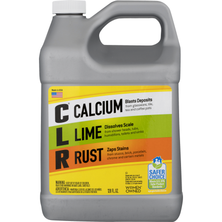 CLR Calcium Lime & Rust Remover, Biodegradable 1 Gallon Bottle, 128 Oz