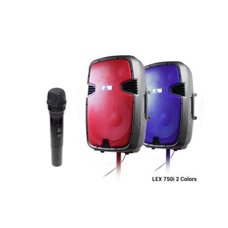 Gli Lex 751 15 In Ed Bluetooth Speaker With Stand Mic Red