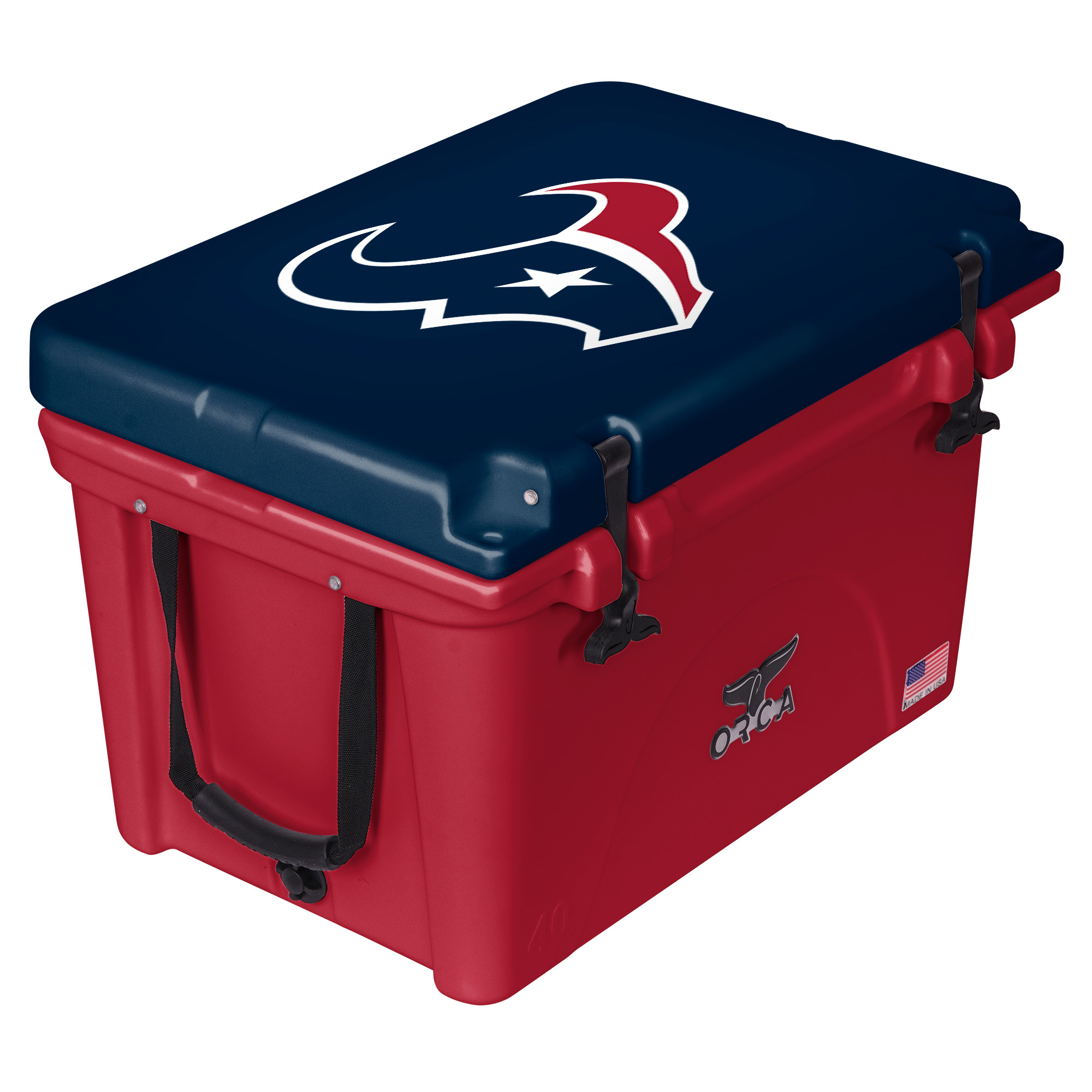 Houston Texans ORCA 40-Quart Hard-Sided Cooler - Red/Navy - No Size