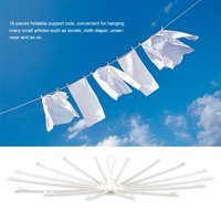 HURRISE Portable Clothes Drying Rack Towel Holder with Foldable Support Rods for Home Travelling,Clothes Rack, Clothes Drying Rack