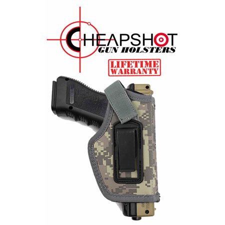 CheapShot DIGITAL CAMO Ballistic Nylon Cordura IWB Gun Holster Concealed Carry 1911 S&W M&P Shield GLOCK 26 27 29 30 33 42 43 Springfield XD XDS Ruger LC9 -