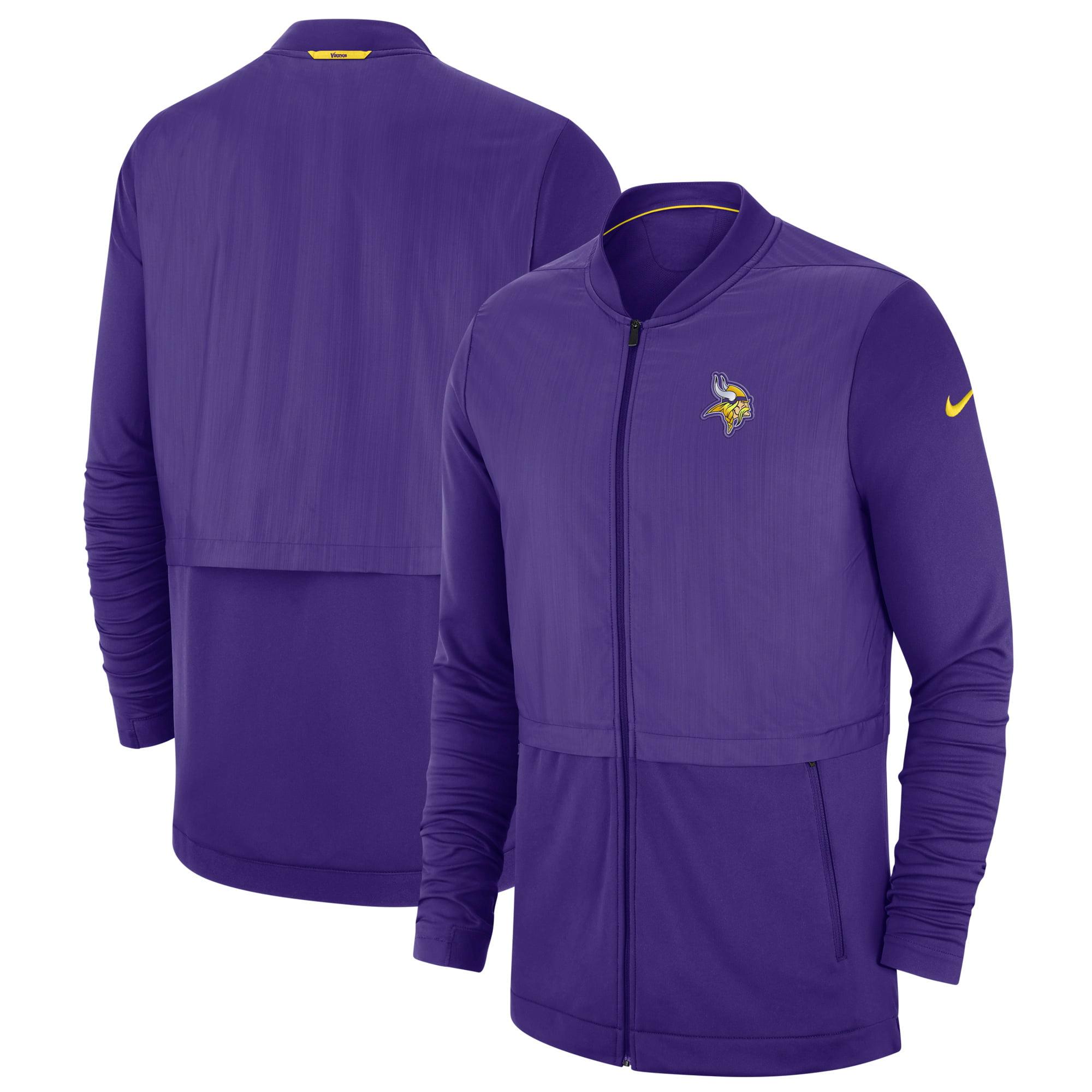 online store f6ada 63fb9 Minnesota Vikings Nike Sideline Elite Hybrid Full-Zip Jacket - Purple