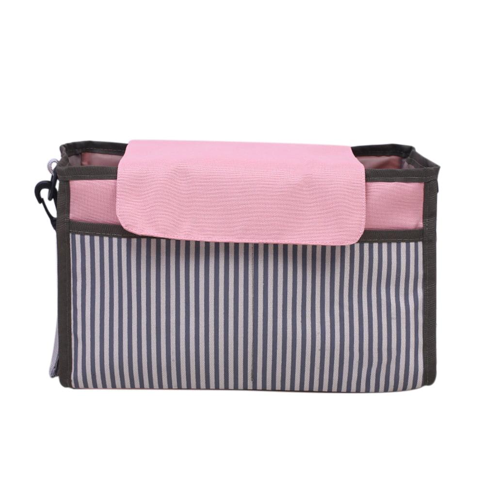 Baby Stroller Bag Travel Organizer Bag Universal Multifunctional Mom Storage Bag High Capacity,with Cup Holder /& Storage Pockets,Adjustable Strap Black