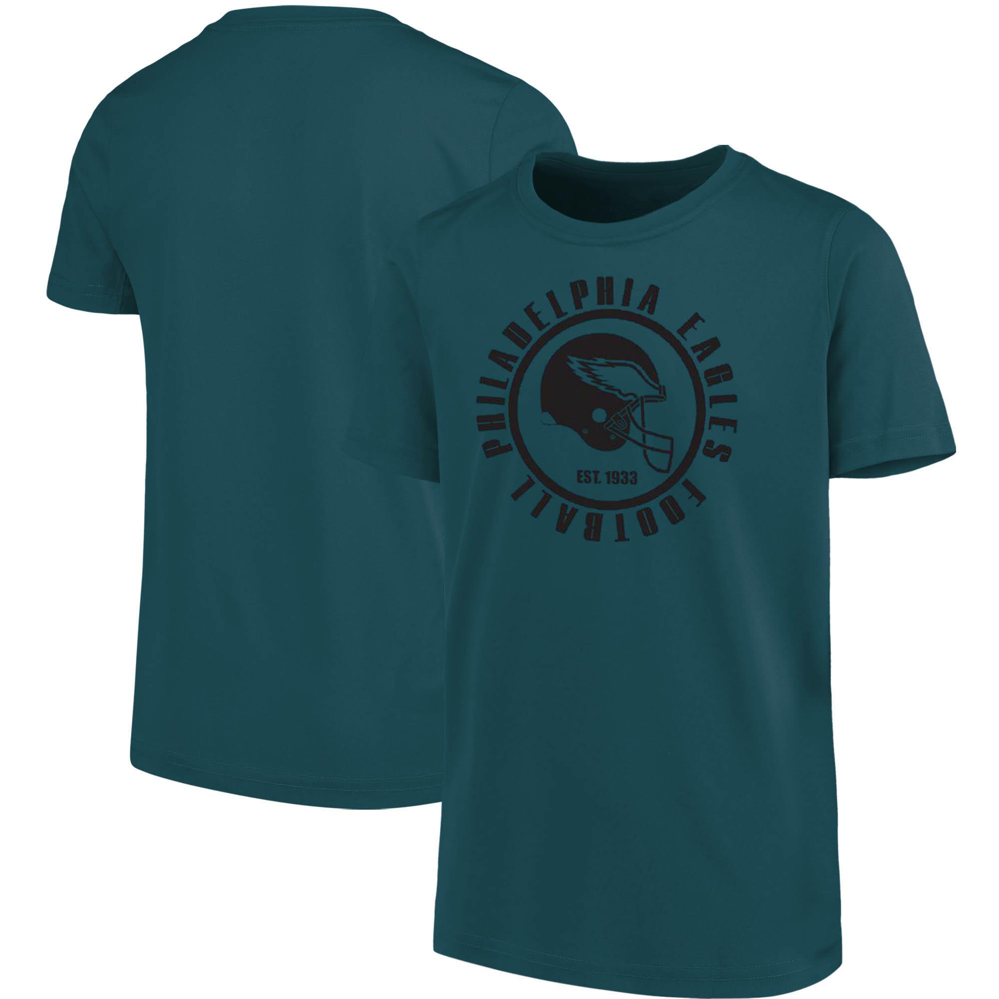 Youth Midnight Green Philadelphia Eagles Circle T-Shirt