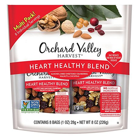 Orchard Valley Harvest Heart Healthy Blend Trail Mix, 1oz Bags (8 pk) (Healthy Halloween Foods)