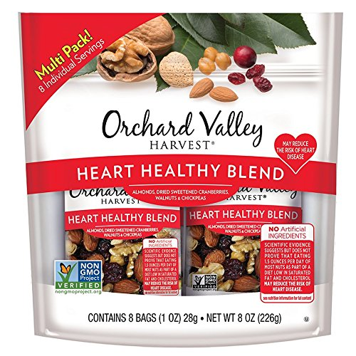 Orchard Valley Harvest Heart Healthy Blend Trail Mix, 1oz Bags (8 pk)