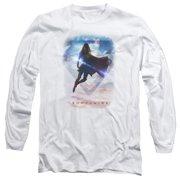 Supergirl Endless Sky Mens Long Sleeve Shirt